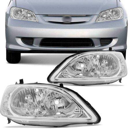 Par-Farol-Honda-Civic-2004-2005-2006-Mascara-Cromada-Pisca-Cristal-connectparts---1-