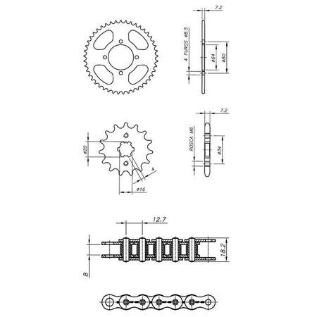 Kit-Completo-Ccp-Xtreme-S-Yamaha-Ybr125-Factor-connectparts---2-