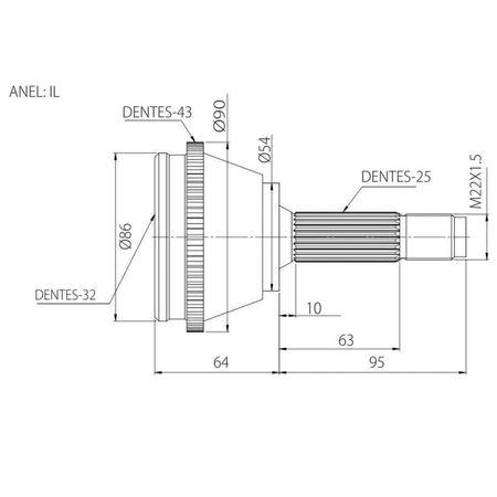 Junta-Homocinetica-Mitsubishi-Pajero-TR4-2.0-00-em-Diante-connectparts---1-