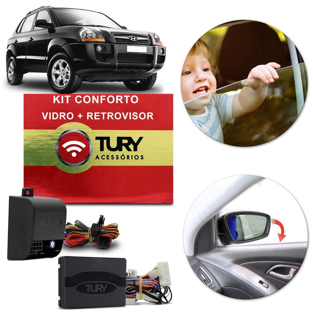 Módulo Tury Vidro e Retrovisor Tucson 04 a 17 - Connect Parts 91f209f3ae