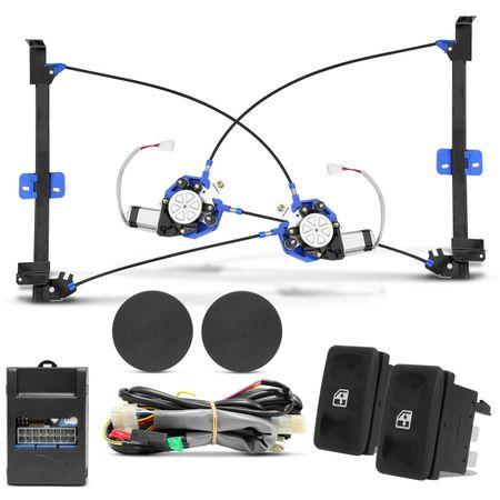 Kit-Vidro-Eletrico-Gol-Saveiro-Voyage-G1-Dianteiro-Sensorizado---Alarme-Positron---Trava-Eletrica-2P-Connect-Parts--4-