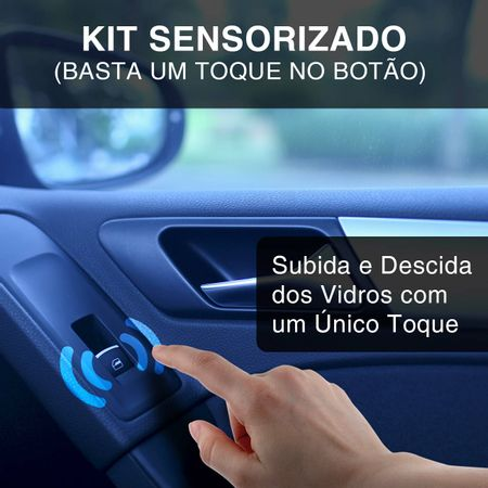 Kit-Vidro-Eletrico-Gol-Parati-G2-Dianteiro-Sensorizado-Grafite---Alarme-Positron---Trava-Eletrica-2P-Connect-Parts--2-