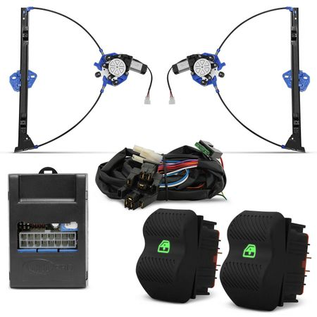 Kit-Vidro-Eletrico-Gol-Parati-G2-Dianteiro-Sensorizado-Grafite---Alarme-Positron---Trava-Eletrica-2P-Connect-Parts--4-