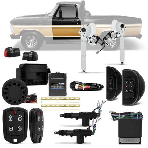 Kit-Vidro-Eletrico-Ford-F1000-F4000-F600-Dianteiro-Sensorizado---Alarme-Positron---Trava-Eletrica-2P-Connect-parts--1-