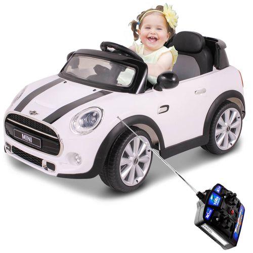 Carrinho-Eletrico-De-Controle-Remoto-12V-Mini-Cooper-Branco-connectparts--1-