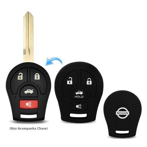 Capa-De-Silicone-Para-Chave-Canivete-Nissan-March-Versa-4-Botoes-Preto-connectparts---1-
