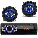 MP3-Player-Multilaser-New-1-Din-USB-SD-AUX-FM---2-Alto-Falante-Hurricane-5-Polegadas-130W-RMS-4-Ohms-connectparts---1-