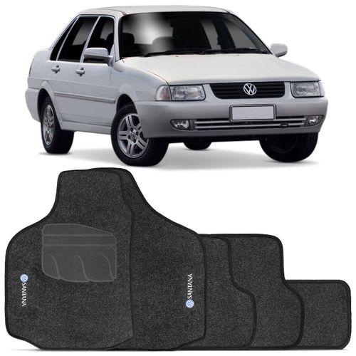 Jogo-de-Tapetes-Carpete-VW-Santana-1997-a-2006-Grafite-Bordado-5-Pecas-connectparts--1-