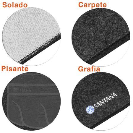 Jogo-de-Tapetes-Carpete-VW-Santana-1997-a-2006-Grafite-Bordado-5-Pecas-connectparts--4-