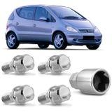 Jogo-4-Porcas-Antifurto-Cromadas-Roda-M12-x-15-Classe-A-1997-a-2004-com-Chave-Segredo-connectparts---1-