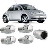 Jogo-4-Porcas-Antifurto-Cromadas-Roda-M14-x-15-New-Beetle-1999-a-2010--com-Chave-Segredo-connectparts---1-