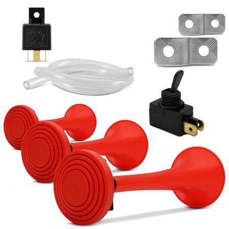 Buzina-Eletropneumatica-3-Cornetas-Vermelhas-12V-Mini-Compressor-connectparts--1-