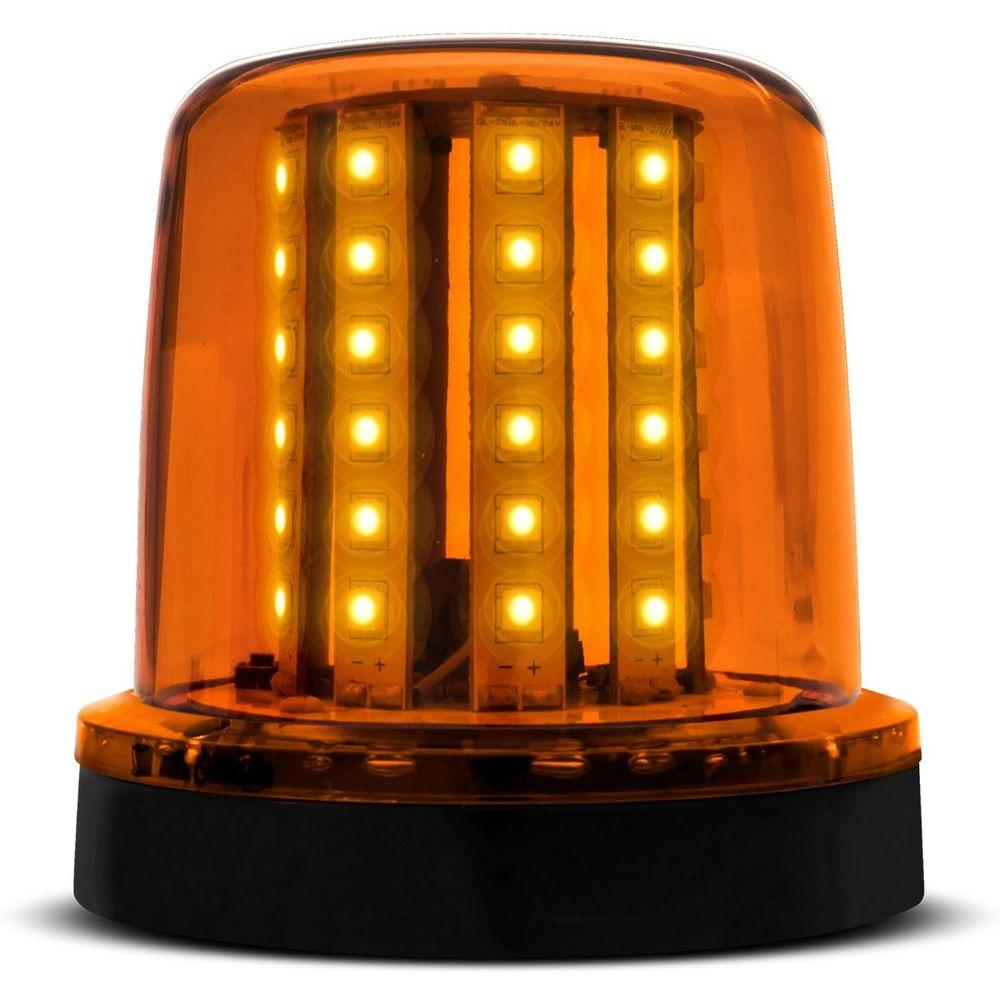 d1ad7a25b25 Giroled Luz de Emergência Sinalizador 54 LEDs 12 24V Âmbar Giroflex Fixação  Imã Carro Moto
