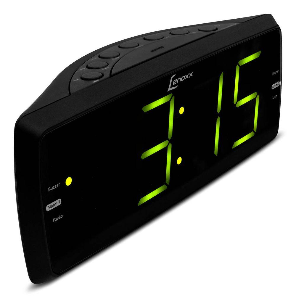 cee2a5a849b Rádio Relógio Lenoxx RR 736 AM FM Display 1.8 Polegada Despertador Função  Soneca Entrada Auxiliar