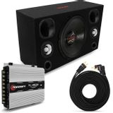 Caixa-de-Som-Automotivo-Completa-830W-RMS-Sub-15-Polegadas---Tweeter---Corneta---Modulo-Taramps-connect-parts--1-