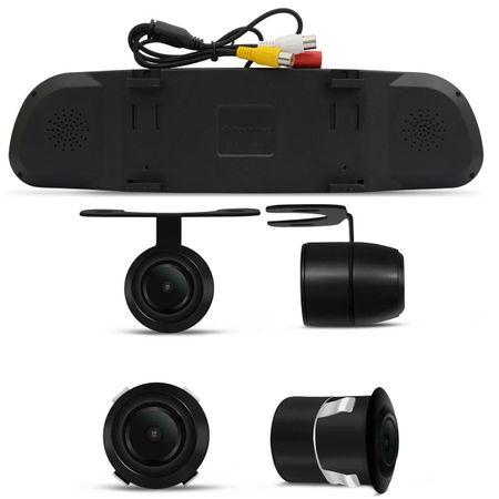 Kit-Retrovisor-Interno-LCD-4.3-Polegadas-12V-com-Camera-de-Re-Colorida-2-em-1-VW-Voyage-Golf-Polo-connectparts---2-