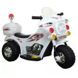 Mini-Moto-Eletrica-Infantil-Branca-75V-2-A-3-Quilometros-Por-Hora-Suporta-Ate-25Kg-connectparts
