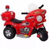 Mini-Moto-Eletrica-Infantil-Vermelha-75V-2-A-3-Quilometros-Por-Hora-Suporta-Ate-25Kg-connectparts