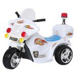 Mini-Moto-Eletrica-Infantil-Branca-6V-25-Quilometros-Por-Hora-Suporta-Ate-17Kg-connectparts