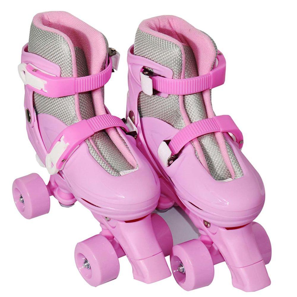 a9930ce81 Patins Infantil Feminino Roller Rosa 4 Rodas - Connect Parts