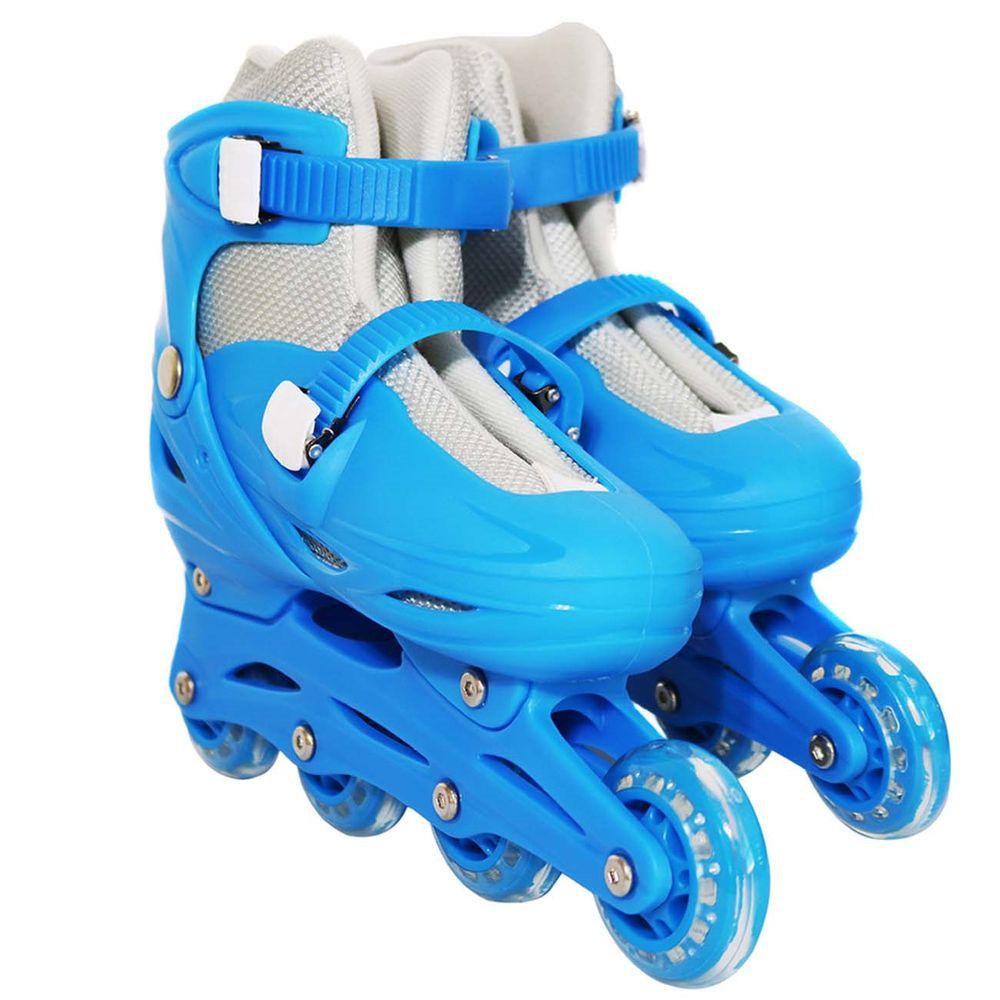 2739951d3 Par de Patins Inline Azul 4 Rodas Crianças - Connect Parts