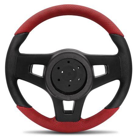 Volante-Mustang-Jetta-Alemao-Couro-Perfurado-Vermelho-Parte-Superior-E-Inferior-Aplique-Grafite-connectparts--1-