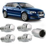 Jogo-4-Porcas-Antifurto-Cromadas-Roda-M14-x-15-Audi-A3-1999-a-2016--com-Chave-Segredo-connectparts---1-