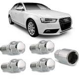 Jogo-4-Porcas-Antifurto-Cromadas-Roda-M14-x-15-Audi-A4-1999-a-2016--com-Chave-Segredo-connectparts---1-