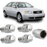 Jogo-4-Porcas-Antifurto-Cromadas-Roda-M14-x-15-Audi-A6-1998-a-2014--com-Chave-Segredo-connectparts---1-