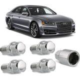 Jogo-4-Porcas-Antifurto-Cromadas-Roda-M14-x-15-Audi-S8-1996-a-2016--com-Chave-Segredo-connectparts---1-