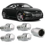 Jogo-4-Porcas-Antifurto-Cromadas-Roda-M14-x-15-Audi-TT-1999-a-2016--com-Chave-Segredo-connectparts---1-