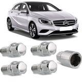 Jogo-4-Porcas-Antifurto-Cromadas-Roda-M14-x-15-Mercedes-Benz-Class-A-2005-a-2017--com-Chave-Segredo-connectparts---1-