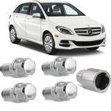 Jogo-4-Porcas-Antifurto-Cromadas-Roda-M14-x-15-Mercedes-Benz-Class-B-2006-a-2017--com-Chave-Segredo-connectparts---1-