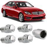 Jogo-4-Porcas-Antifurto-Cromadas-Roda-M14-x-15-Mercedes-Benz-Class-C-2008-a-2016--com-Chave-Segredo-connectparts---1-
