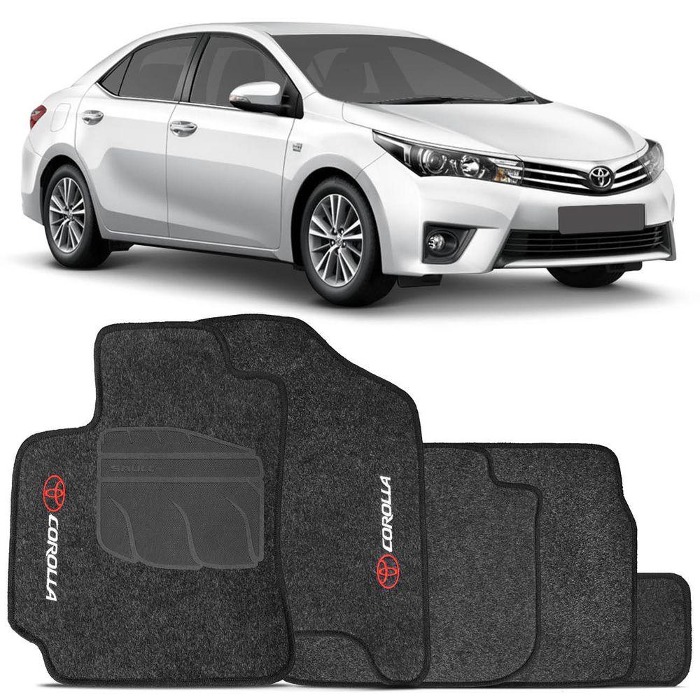 Tapete Toyota Corolla 2014 2015 Carpete Grafite Bordado ...