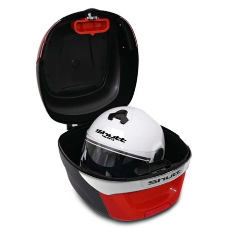 Bauleto-Moto-Shutt-29-Litros-Bau-Vermelho--Adesivo-Escovado-com-escrito-preto-connectparts--1-