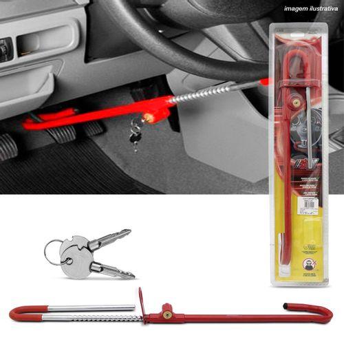 Trava-de-Seguranca-Antifurto-Para-Volante-e-Pedal-SW-Universal-Vermelho-Com-Algema-2-Chaves-Tetra-connectparts---1-