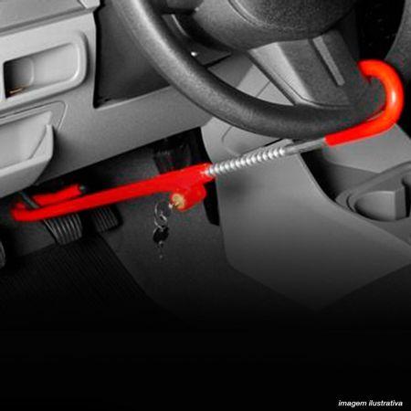 Trava-de-Seguranca-Antifurto-Para-Volante-e-Pedal-SW-Universal-Vermelho-Com-Algema-2-Chaves-Tetra-connectparts---5-