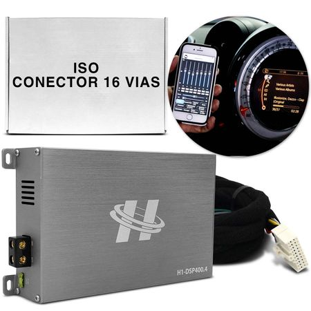Kit-Modulo-Amplificador-Hurricane-H1-DSP400.4---Chicote-Iso-Conector-Original-Plug-And-Play-connectparts---1-