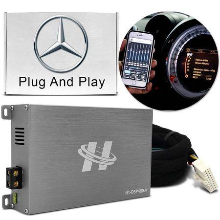 Kit-Modulo-Amplificador-Hurricane-H1-DSP400.4---Chicote-Mercedes-Benz-Original-Plug-And-Play-connectparts---1-