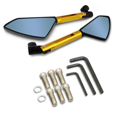 Retrovisor-5-Pentagonal-Dourado-Total-Metal-Espelho-Azul-Com-Suporte-connectparts---1-