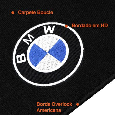 Jogo-Tapete-Premium-Bucle-12-Mm-Bmw-Serie-3-Sedam-X1-2008-A-2012-Preto-Logo-Centro-connectparts--1-