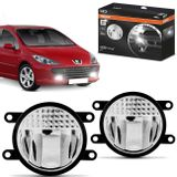 Par-Farol-de-Milha-LED-Peugeot-307-2006-2007-2008-2009-2010-LEDriving-FOGLights-201-6000K-Auxiliar-connectparts---1-