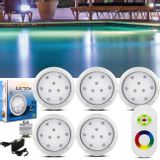 Kit-5-Luminarias-de-Piscina-12V-9W-Branco-Multicores-110-Lumens---Controle-Remoto-Wireless-Fonte-60W-connectparts---1-