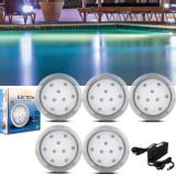 Kit-5-Luminarias-de-Piscina-12V-9W-Azul-Transparente-110-Lumens---Controle-Remoto-Wireless-Fonte-60W-connectparts---1-