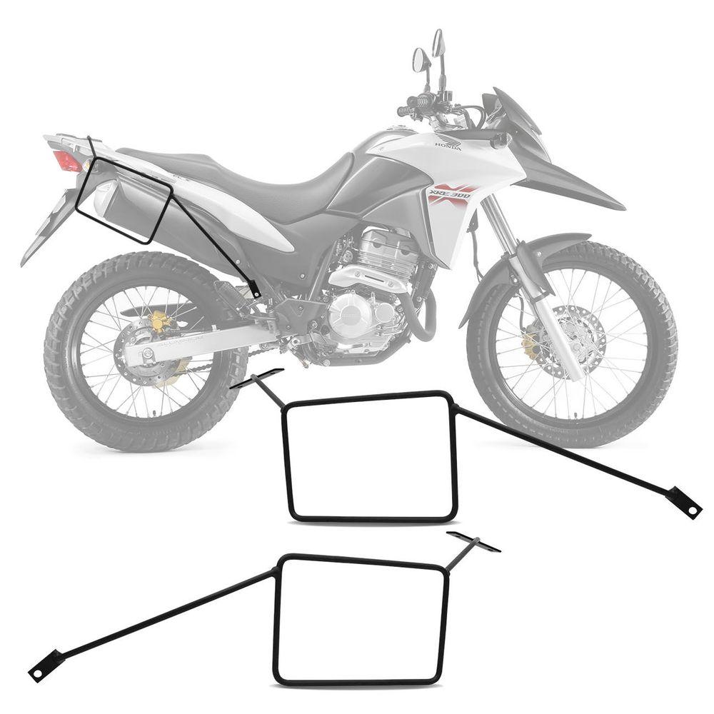 6cbf0578048 Afastador De Alforje Moto Honda Xre 300 2009 A 2018 Preto Suporte Lateral  Para Bolsas