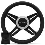 Kit-Volante-Shutt-X4B-Black-Anel-Prata-Acionador-Buzina-Emblema-Cromado---Cubo-Golf-Polo-Aluminio-connectparts--1-