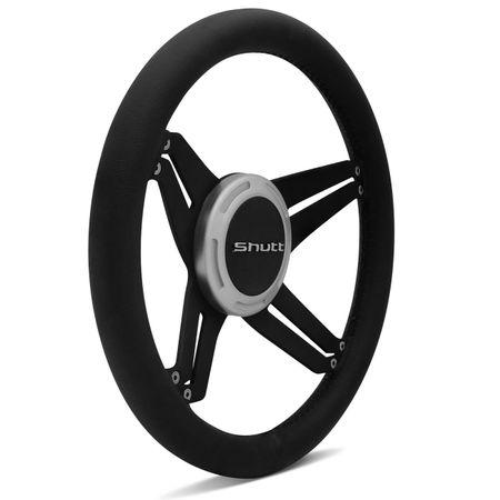 Kit-Volante-Shutt-X4B-Black-Anel-Prata-Acionador-Buzina-Emblema-Cromado-Cubo-Parati-Aluminio-connectparts--2-