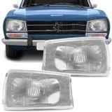 Par-Farol-Peugeot-504-1991-1992-1993-1994-1995-1996-1997-1998-Mascara-Cromada-Foco-Simples-connectparts--1-