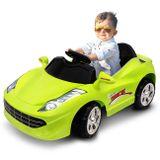 Mini-Carro-Eletrico-Infantil-Verde-6V-3-Quilometros-Por-Hora-Suporta-Ate-25Kg-connectparts--1-